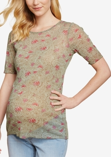 Jessica Simpson Maternity Elbow-Sleeve T-Shirt