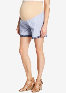 Jessica Simpson Maternity Embroidered Shorts