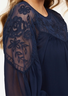 Jessica Simpson Maternity EmbroideredBlouse