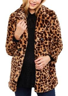 Jessica Simpson Maternity Faux-Fur Coat