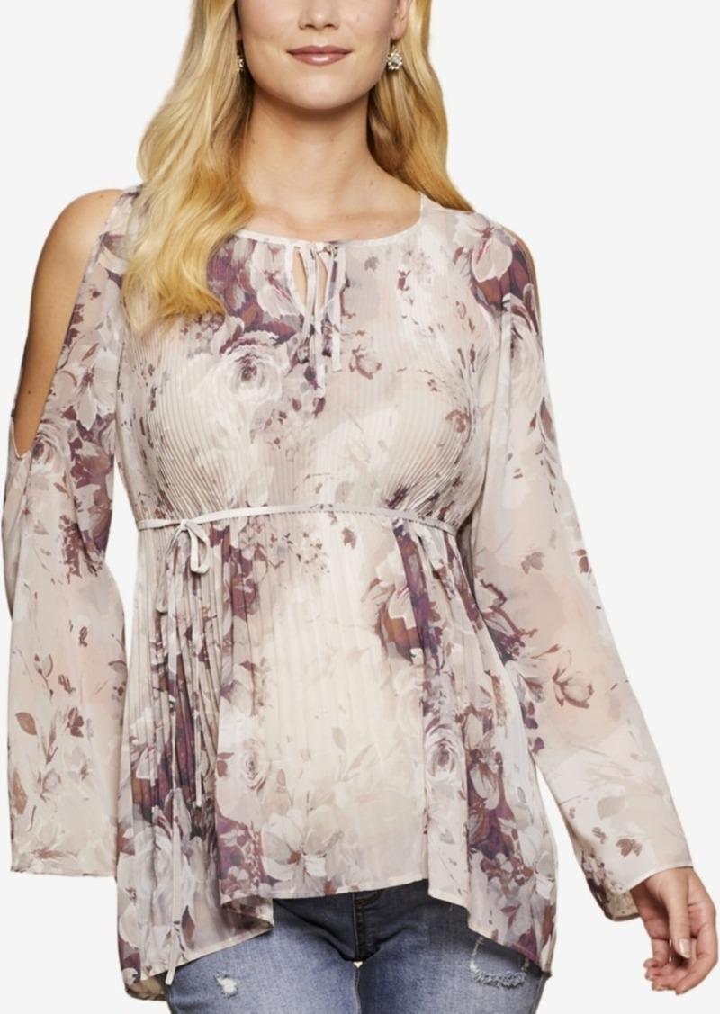 170d706b61a8b Jessica Simpson Jessica Simpson Maternity Floral-Print Cold-Shoulder ...