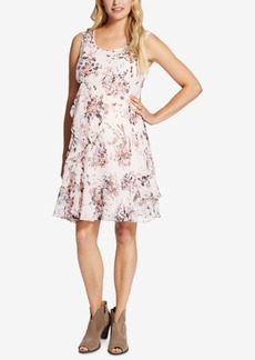 Jessica Simpson Maternity Floral-Print Ruffled Dress