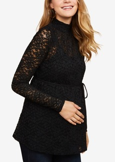 Jessica Simpson Maternity Lace Mockneck Top