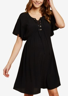 Jessica Simpson Maternity Lace-Up Dress