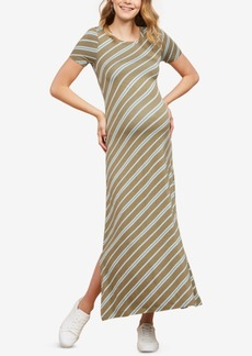 Jessica Simpson Maternity Lace-Up Maxi Dress
