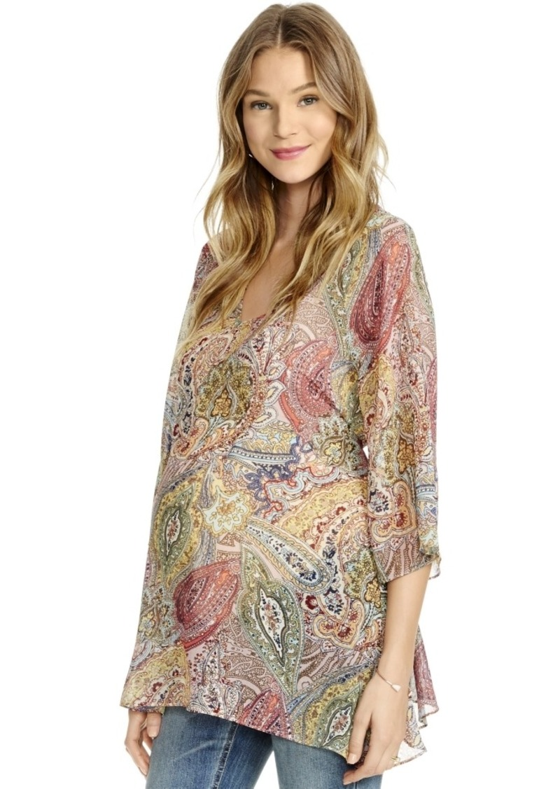 Jessica Simpson Maternity Paisley Blouse