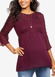 Jessica Simpson Maternity Peplum Top