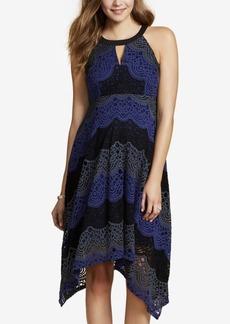 Jessica Simpson Maternity Printed Handkerchief-Hem Dress