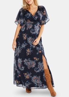 Jessica Simpson Maternity Printed Wrap Dress