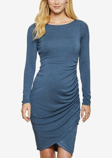 Jessica Simpson Maternity Ruched Long-Sleeve Dress