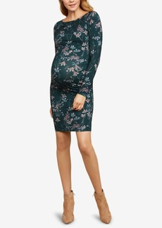 Jessica Simpson Maternity Ruched Sheath Dress