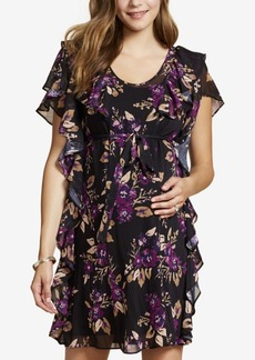 Jessica Simpson Maternity Ruffled Floral-Print Dress