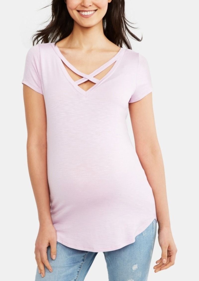 Jessica Simpson Maternity Strappy V-Neck Top