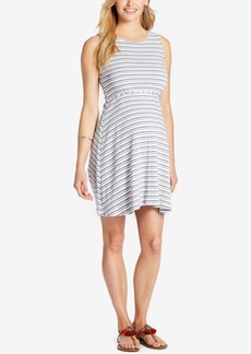 Jessica Simpson Maternity Striped Fit & Flare Dress