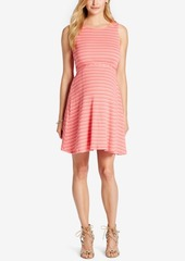 Jessica Simpson Maternity Striped Fit & Flare Dress