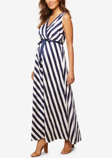 Jessica Simpson Maternity Striped Maxi Dress