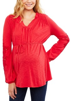 Jessica Simpson Maternity Top with Lace Sleeve