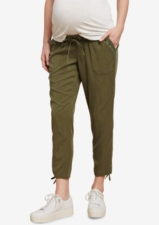 Jessica Simpson Maternity Twill Drawstring Pants