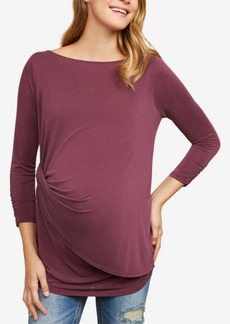 Jessica Simpson Maternity Twist-Front Top