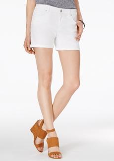 Jessica Simpson Maxwell Cuffed Colored Denim Bermuda Shorts