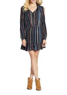 JESSICA SIMPSON Meadow Long Sleeve Printed Dress