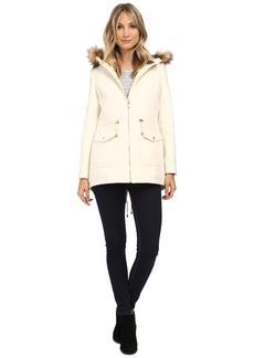 Jessica Simpson Melton Touch Anorak Coat with Faux Fur