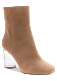 Jessica Simpson Merta Lucite Cylinder-Heel Booties Women's Shoes