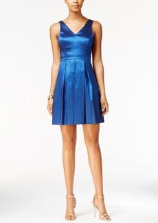 Jessica Simpson Metallic Bow Fit & Flare Dress