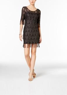 Jessica Simpson Metallic Fringe Sheath Dress