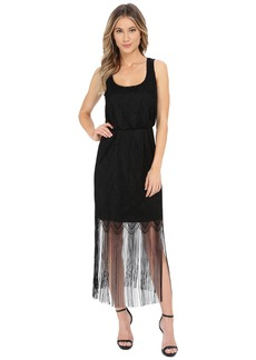 Jessica Simpson Metallic Lace Fringe Dress