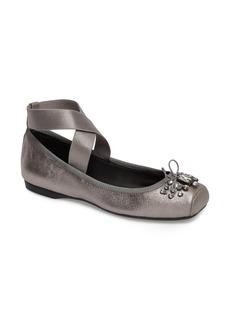 Jessica Simpson Miaha Embellished Blunt Toe Flat (Women)