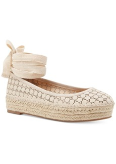 Jessica Simpson Mikaela Espadrille Lace-Up Platform Flats Women's Shoes