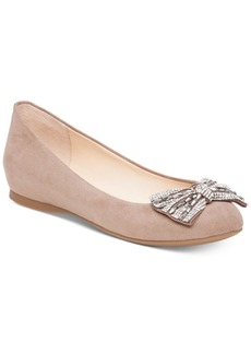 Jessica Simpson Movey Embellished-Bow Ballet Flats Women's Shoes