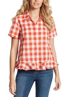 Jessica Simpson Nellie Cotton Plaid Shirt