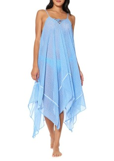 Jessica Simpson On The Spot Printed Chiffon Coverup
