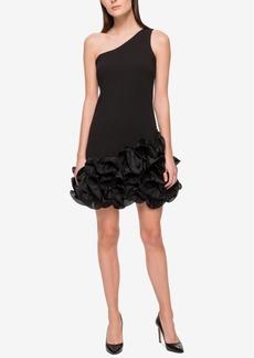 Jessica Simpson One-Shoulder Ruffled Sheath Dress