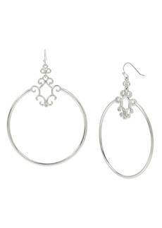 """Jessica Simpson Openwork Gypsy Hoop Earrings, 3.25"""""""