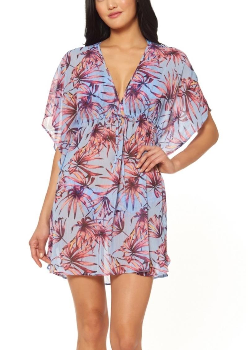 Jessica Simpson Palmy Days Printed Caftan Swim Cover-Up Women's Swimsuit
