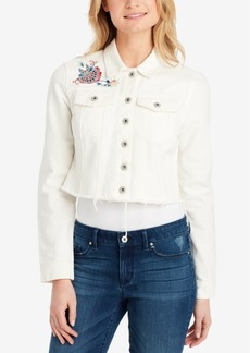 Jessica Simpson Pixie Cotton Cropped Denim Jacket