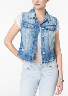 Jessica Simpson Pixie Cotton Ripped Denim Vest