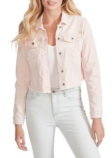 Jessica Simpson Pixie Frayed Cropped Jacket