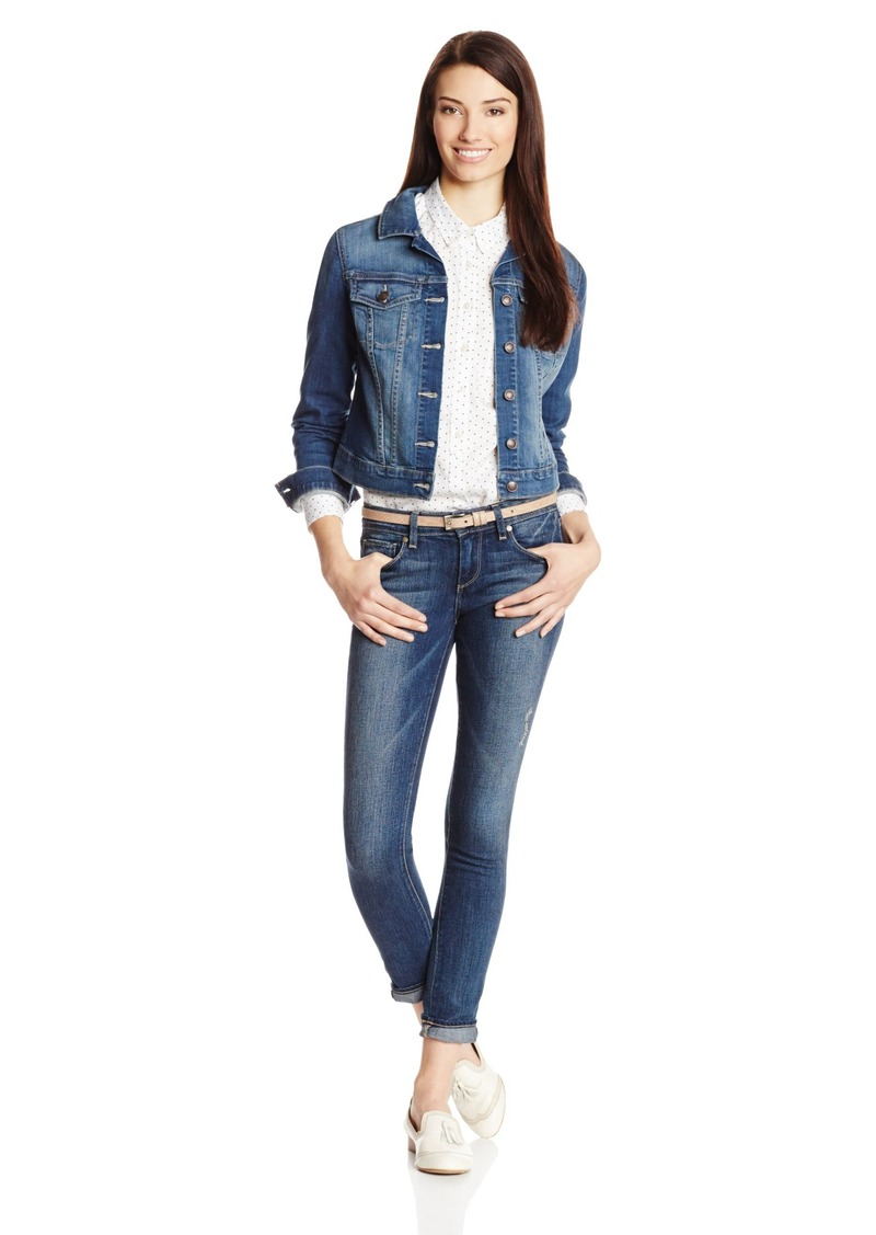 Jessica Simpson Pixie Long Sleeve Denim Jacket JEFFORD WASH BLUE X-Sm