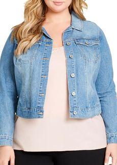 Jessica Simpson Plus Manchester N975 Cotton Denim Jacket