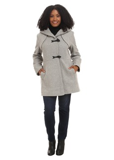 Jessica Simpson Plus Size Braided Wool Duffle Coat