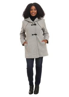 Jessica Simpson Plus Size Braided Wool Duffle Coat