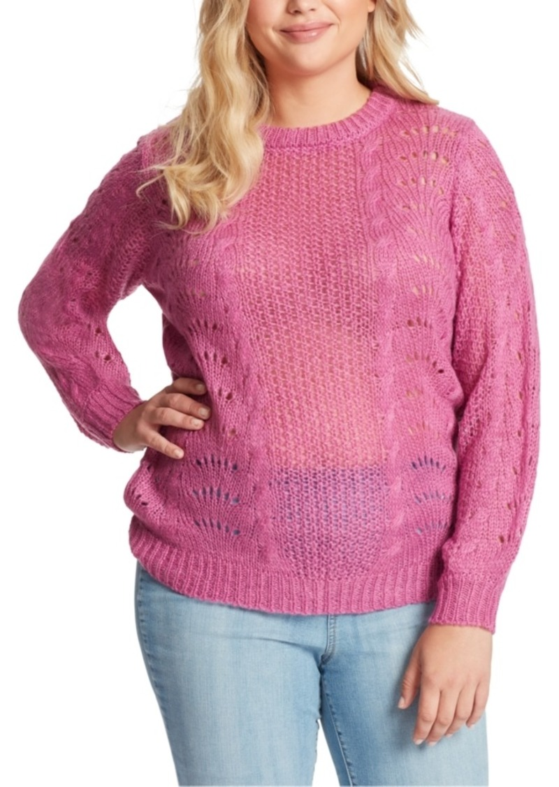 Jessica Simpson Plus Size Hazel Pointelle Sweater
