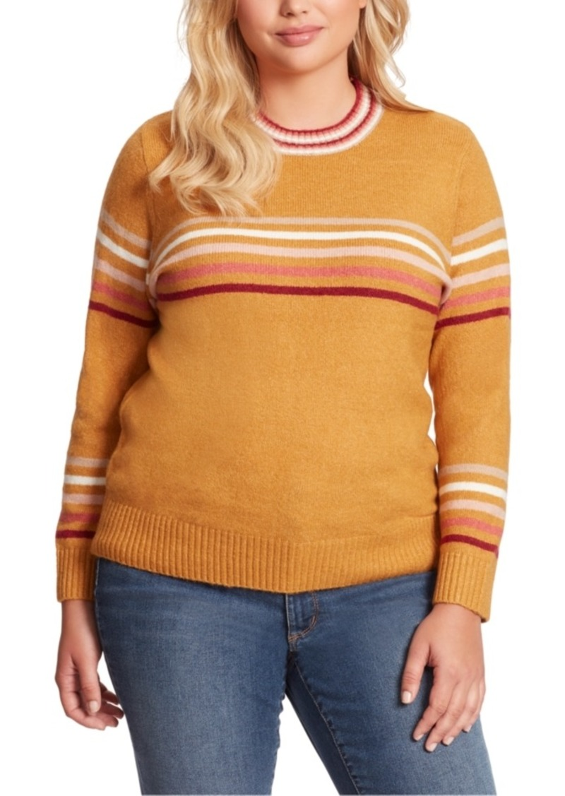 Jessica Simpson Plus Size Rai Stripe Sweater