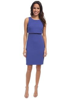 Jessica Simpson Pop Over Sleeveless Dress w/ Ace Illusion