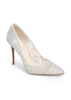 Jessica Simpson Praylee2 Paisley Lace Pump (Women)