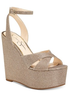 Jessica Simpson Prena Platform Wedge Evening Sandals Women's Shoes